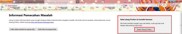 Reset Firefox 2