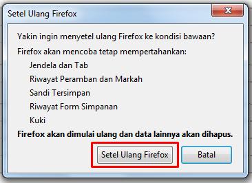 Reset Firefox 3